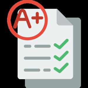 A+ paper icon