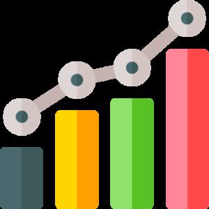 report graph colored bars